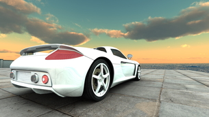 スポーツカーの素材 [FYI00086625]