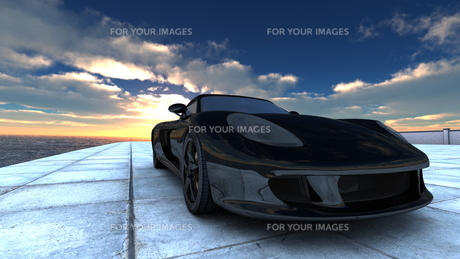 スポーツカーの素材 [FYI00086626]