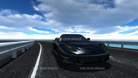 スポーツカーの素材 [FYI00086657]