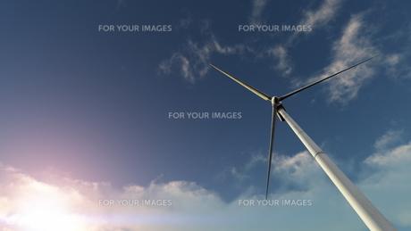 プロペラ風車の素材 [FYI00086698]