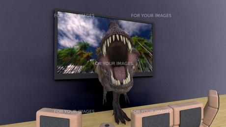 3Dテレビの写真素材 [FYI00086710]