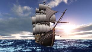 帆船の素材 [FYI00086729]