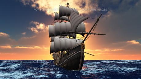 帆船の素材 [FYI00086730]