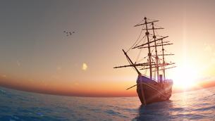 帆船の素材 [FYI00086747]