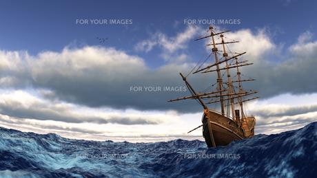 帆船の素材 [FYI00086750]