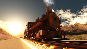 蒸気機関車の素材 [FYI00087139]