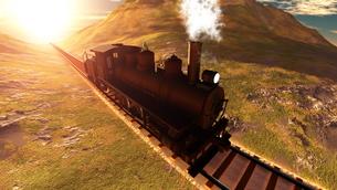 蒸気機関車の素材 [FYI00087144]
