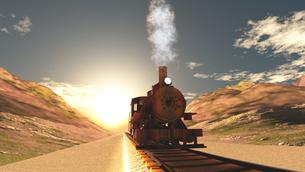 蒸気機関車の素材 [FYI00087146]