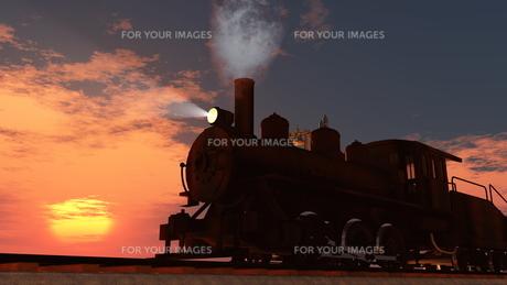 蒸気機関車の素材 [FYI00087153]