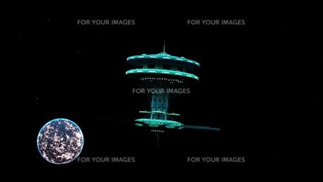 宇宙ステーションの写真素材 [FYI00087436]