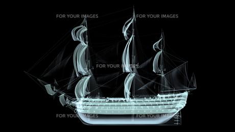 帆船の素材 [FYI00087493]