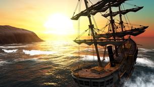 帆船の素材 [FYI00087572]