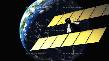 人工衛星の写真素材 [FYI00087899]