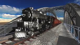 蒸気機関車の素材 [FYI00088104]