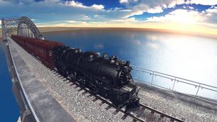 蒸気機関車の素材 [FYI00088128]