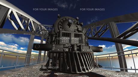 蒸気機関車の素材 [FYI00088135]