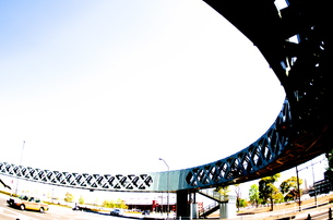 歩道橋の写真素材 [FYI00088432]