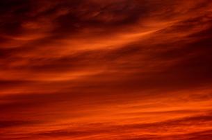 夕焼け雲の写真素材 [FYI00088441]