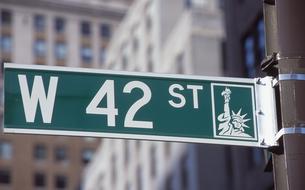 west 42nd streetの写真素材 [FYI00088455]