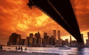 ブルックリンより望むワールドトレードセンターの写真素材 [FYI00088459]