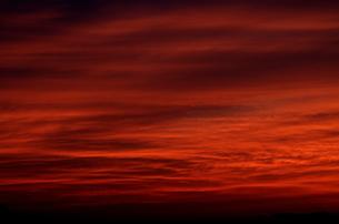 夕焼け雲の写真素材 [FYI00088461]