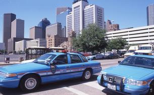 ヒューストンのパトカーの写真素材 [FYI00088491]