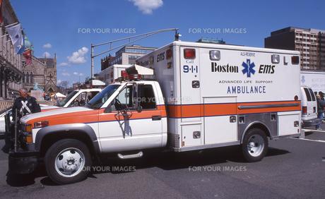 ボストンの救急車の写真素材 [FYI00088505]