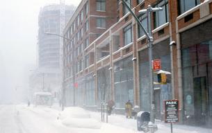 ニューヨークの雪景色の写真素材 [FYI00088522]