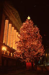 証券取引所のクリスマスツリーの写真素材 [FYI00088525]