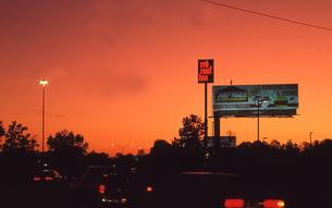 バトンルージュの夕焼けの写真素材 [FYI00088667]