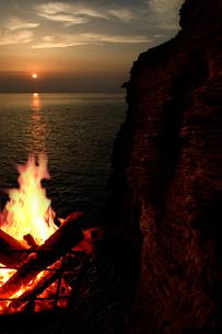 壱岐の夜明けの写真素材 [FYI00088999]