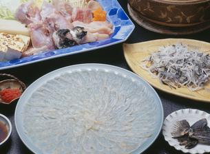 ふぐ料理セットの写真素材 [FYI00089023]