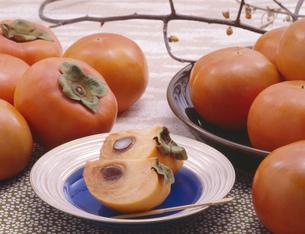 富有柿の写真素材 [FYI00089036]