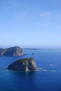 三日月山展望台から見た烏帽子岩の写真素材 [FYI00089113]