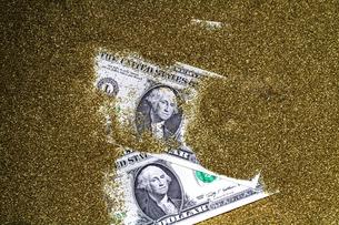 1ドル紙幣の写真素材 [FYI00089114]
