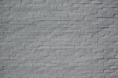 白いブロックの壁の写真素材 [FYI00089154]
