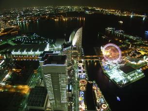 ランドマークタワーの夜景の写真素材 [FYI00089399]