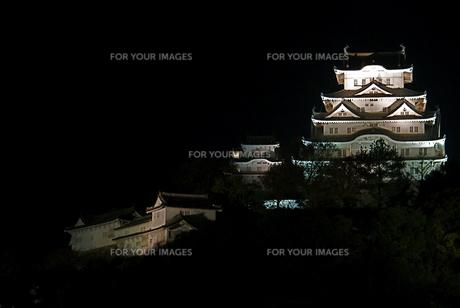 姫路城・連立天守閣・夜景・正面(横3)の写真素材 [FYI00089541]