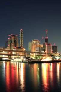 神戸三宮の夜景1の写真素材 [FYI00089635]