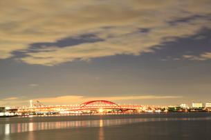 神戸大橋-夜景-横-の写真素材 [FYI00089649]