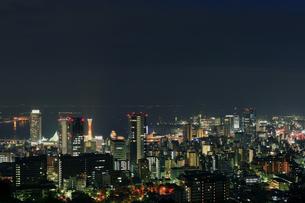 六甲山から神戸港を臨む夜景1の写真素材 [FYI00089666]