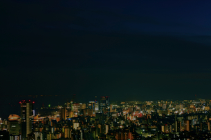六甲山から瀬戸内海を臨む夜景1の写真素材 [FYI00089675]
