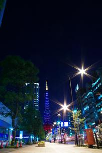 東京タワー/群青の夜景の写真素材 [FYI00089715]