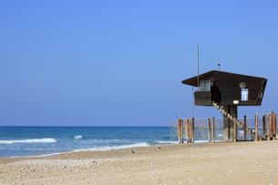 地中海をのぞむ監視塔-横-の写真素材 [FYI00089989]