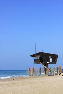 地中海をのぞむ監視塔-縦-の素材 [FYI00090002]