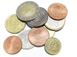 世界のコインの写真素材 [FYI00090339]