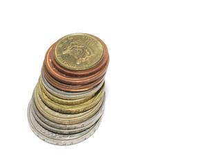 世界のコインの写真素材 [FYI00090372]
