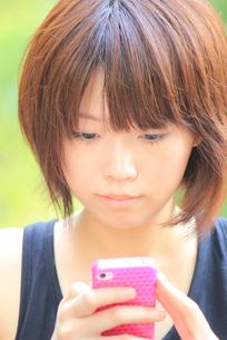Princess MAIKO Benicio/携帯電話/新緑の写真素材 [FYI00090422]