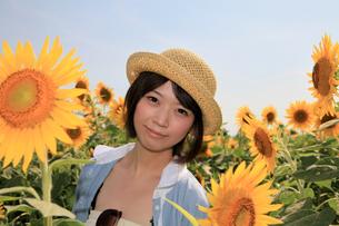 Princess MAIKO Benicio/向日葵畑シリーズの写真素材 [FYI00090492]