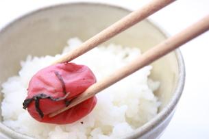 梅干ご飯の写真素材 [FYI00090759]